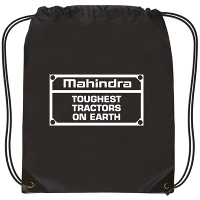 Mahindra Drawstring BLK Backpack -Toughest Tractor (set/25)