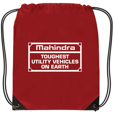 Mahindra Drawstring RED Backpack - Toughest UTV (set/25)